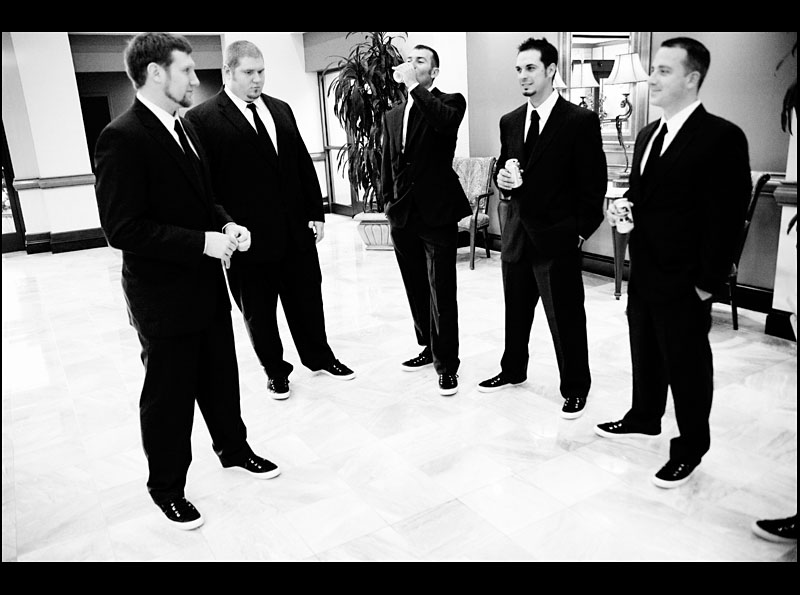 Groomsmen at the Cranberry Marriott by Shell Bailey Photography