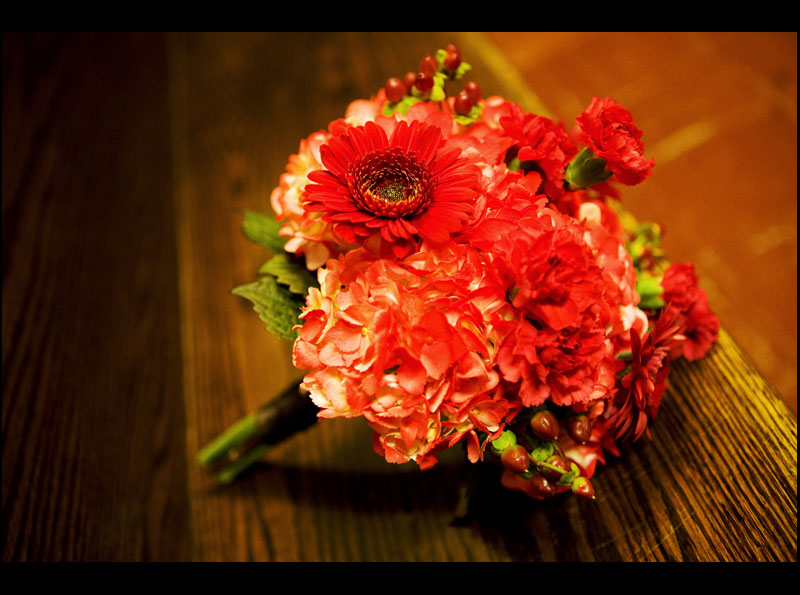 Red Bridesmaids Bouquet