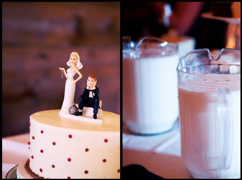 Wedding Cake and Milk