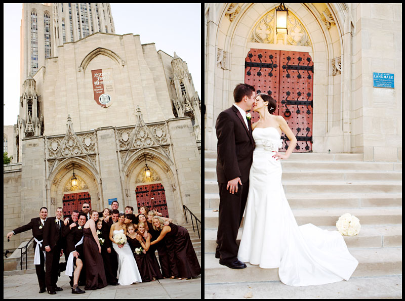 Cathedral of Learning Wedding Party