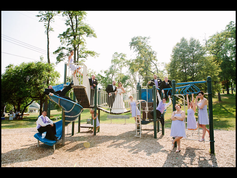 Playground Wedding Portraits