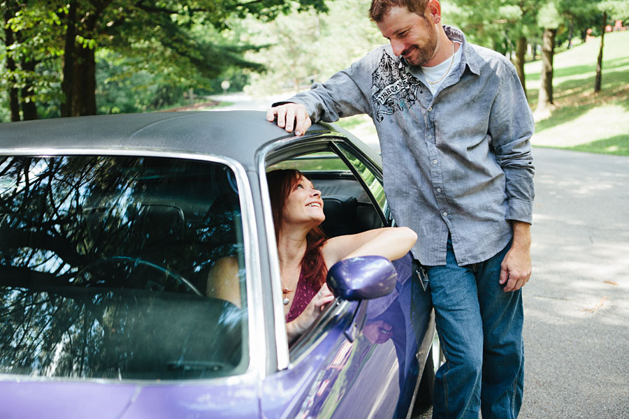 Classic Car Engagement Photos