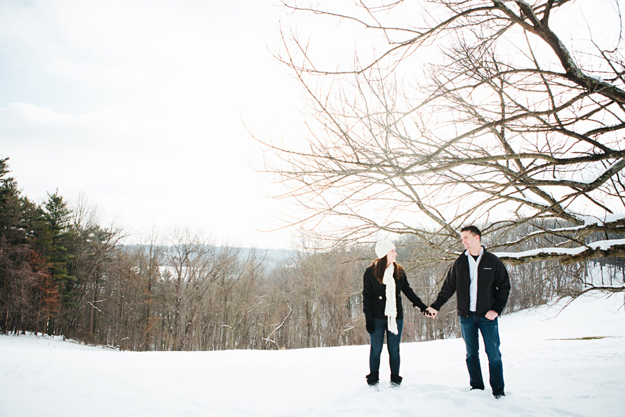 Pittsburgh Engagment Photos Snow