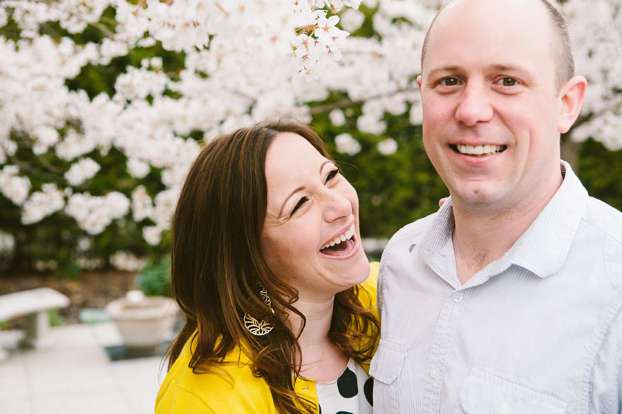 Dogwood Trees Engagement Photography Youngstown OH