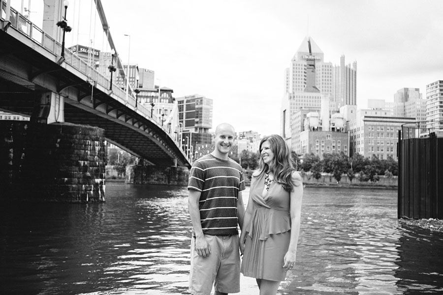 Downtown Engagement Portraits Pittsburgh