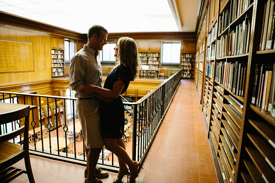 Frick Fine Arts Library engagement photos