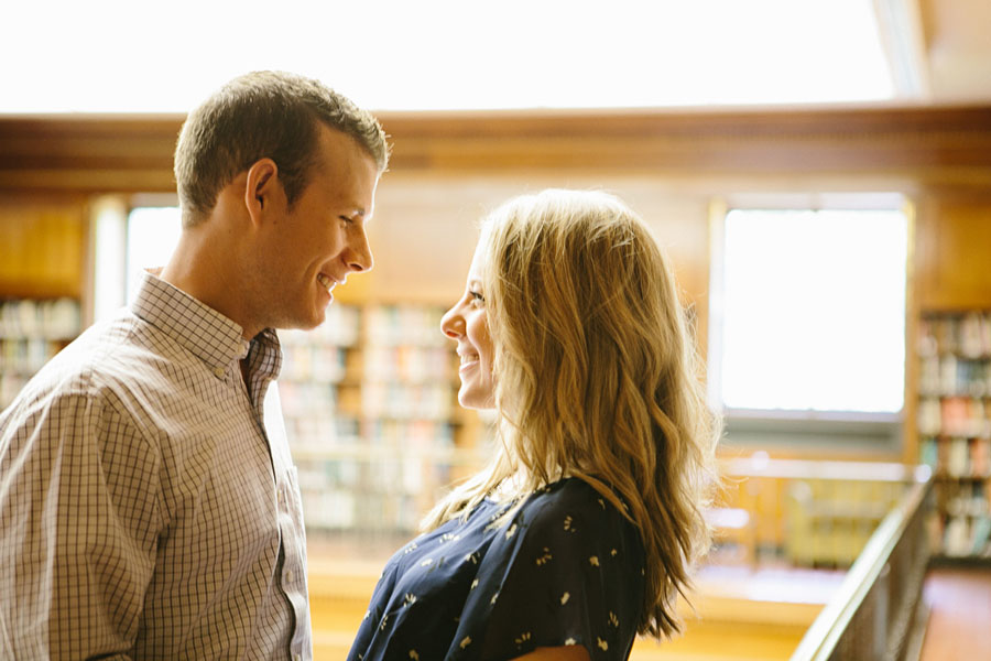Frick Fine Arts library engagement photographer Pittsburgh