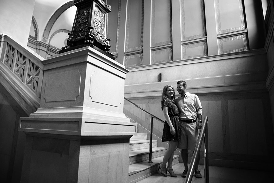 Carnegie Library Pittsburgh Engagement Photos