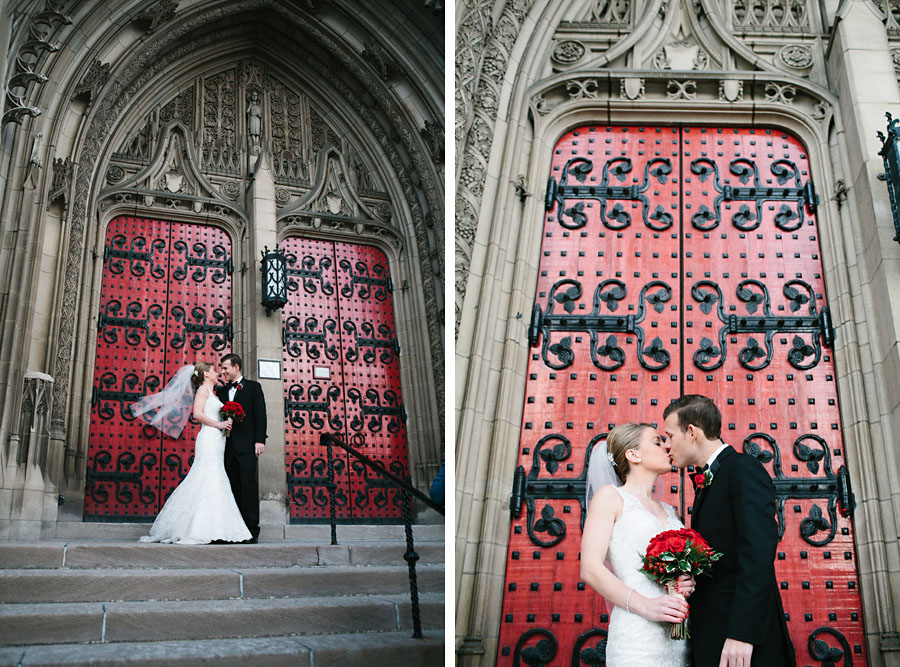 Heinz Chapel Wedding Red Doors