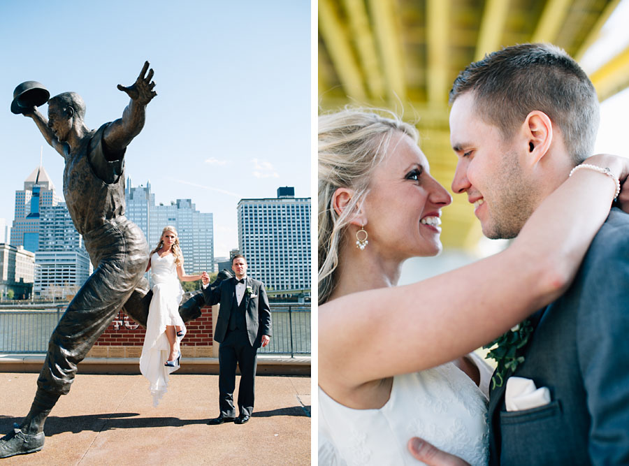 Pittsburgh North Shore wedding photos