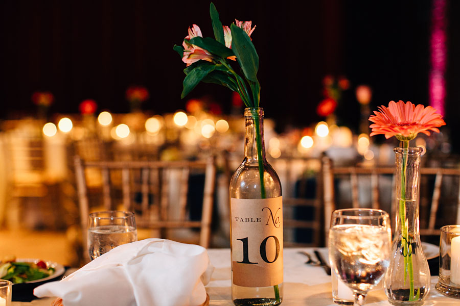 Wine Bottle Table Numbers Pittsburgh Opera House