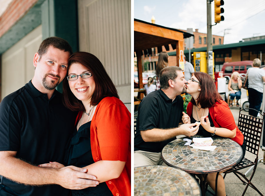 Downtown Pittsburgh Engagement Photos